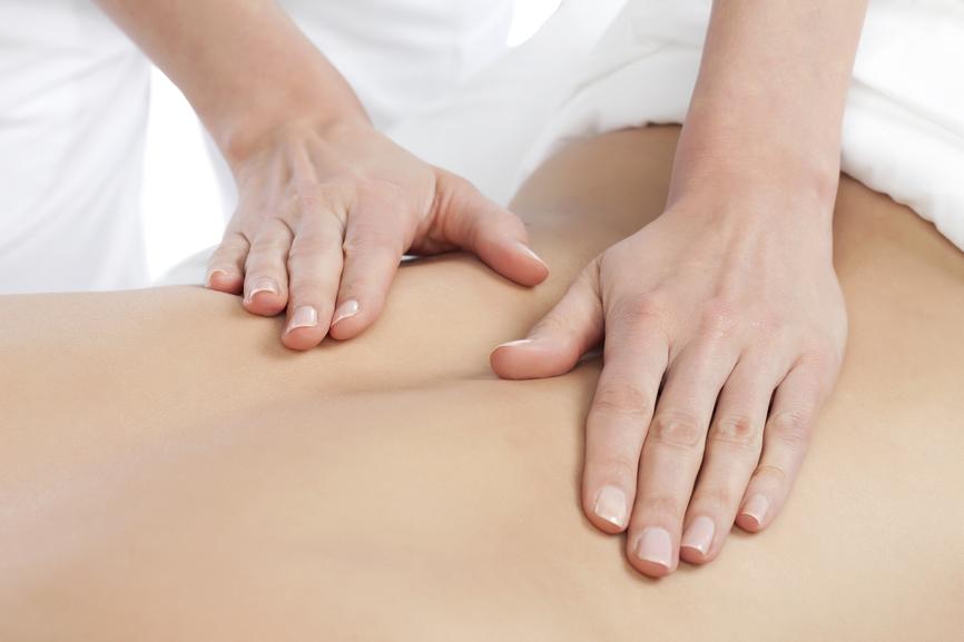 back massage at spa