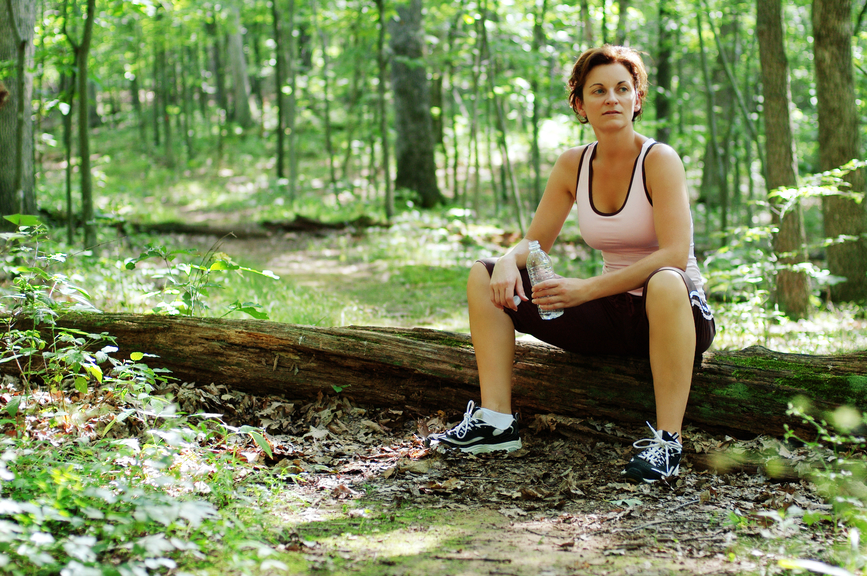 Mature Woman Runner Resting